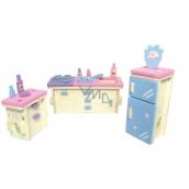 Puzzle dřevěné Nábytek pro panenky Kuchyň 20 x 15 cm