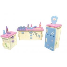 Dřevěné puzzle Nábytek pro panenky Kuchyň 20 x 15 cm