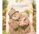 Albi Me To You Blahopřání do obálky 3D K svatbě Svatební medvídci u brány 15,5 x 15,5 cm
