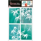Room Decor Samolepky na zeď bambus modrý 4 obdelníky 60 x 42 cm
