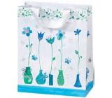 BSB Luxusní dárková papírová taška 14,5 x 15 x 6 cm Blue Dreams LDT 372-CD