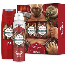 Old Spice BearGlove sprchový gel 250 ml + deodorant sprej 150 ml, kosmetická sada pro muže