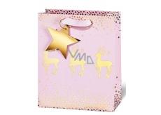 BSB Luxusní vánoční dárková papírová taška 36 x 26 x 14 cm VDT 422 - A5