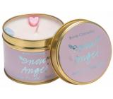 Bomb Cosmetics Snežný anjel Vonná prírodné, ručne vyrobená sviečka v plechovej dóze horí až 35 hodín