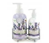 Michel Design Works Levandule, rozmarýn pěnící tekuté mýdlo na ruce 530 ml + mléko na ruce a tělo 236 ml, kosmetická sada