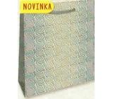Nekupto Dárková papírová taška hologram 32 x 26 x 13 cm Stříbrná 123 02 THL