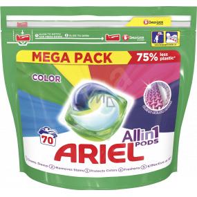 Ariel All in 1 Pods Color gelové polštářky na barevné prádlo 70 kusů x 35 ml