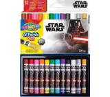 Colorino Olejové pastelky Star Wars kulaté 12 barev