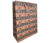 Nekupto Dárková kraftová taška 18,7 x 24,3 x 8 cm Barevné šipky 621 KHM