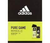 Adidas Pure Game 3v1 sprchový gel 250 ml + deodorant sprej pro muže 150 ml, kosmetická sada