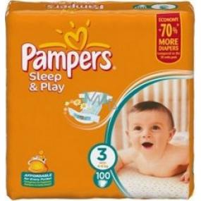 Pampers Sleep & Play 3 Midi 4 - 9 kg plenkové kalhotky 100 kusů