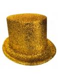 Cylindr karnevalový 25 cm zlatá