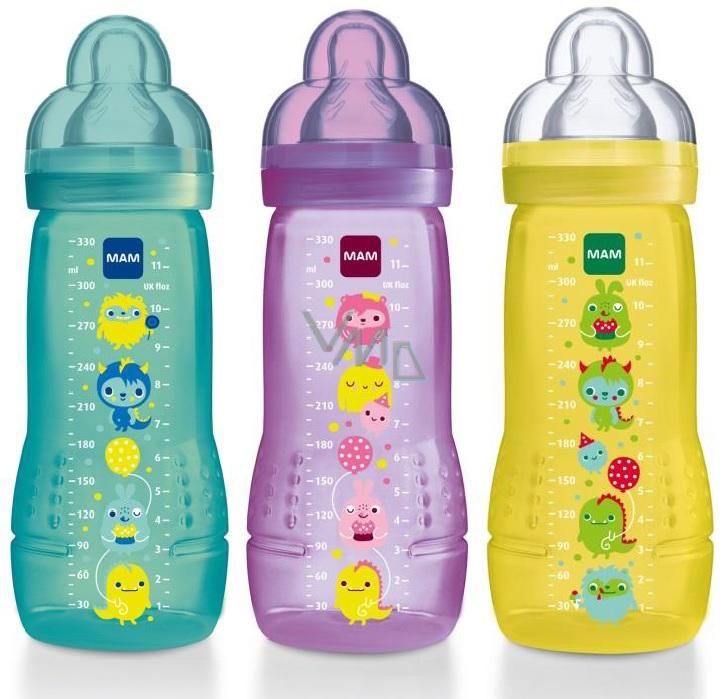 mam baby bottle láhev v3 rychlý různé barvy a motivy 4 měsíce 330