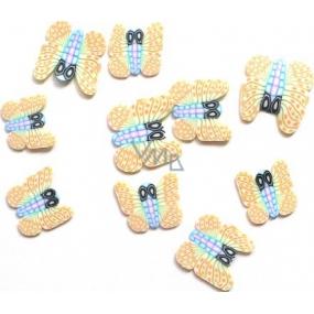 Professional Ozdoby na nehty motýlci béžovo-barevní 132 1 balení