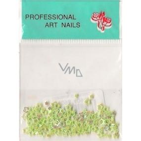 Professional Art Nails ozdoby na nehty hvězdičky zelené 1 balení