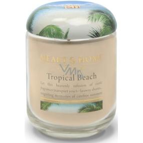 Heart & Home Tropická pláž Sojová vonná svíčka střední hoří až 30 hodin 110 g