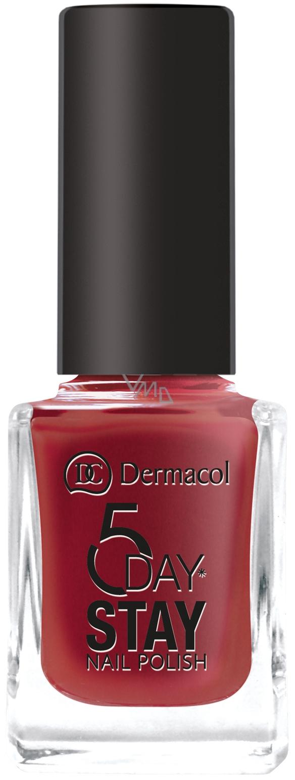 Dermacol 5 Day Stay Dlouhotrvající lak na nehty 22 Hot Kiss 11 ml