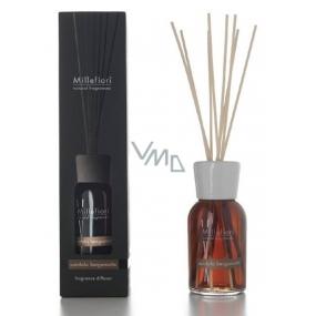 Millefiori Milano Natural Sandalo Bergamotto - Santálové dřevo a bergamot Difuzér 100 ml + 7 stébel v délce 25 cm do menších prostor vydrží 5-6 týdnů