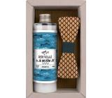 Bohemia Gifts Rybář Olivový olej sprchový gel 250 ml + dřevěný motýlek, kosmetická sada