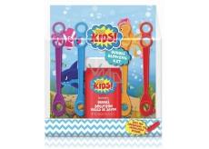 Baylis & Harding Kids Bublifuk lahvičku s roztokem pro výrobu bublin 120 ml + 4 barevná foukátka dárková sada pro děti