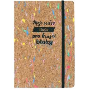 Albi Korkoblok barevný, linkovaný Moje srdce 80 stran 14,7 x 21 x 1,5 cm