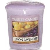 Yankee Candle Lemon Lavender - Citron a levandule vonná svíčka votivní 49 g
