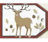 Nekupto Vánoční kartičky na dárky jelen 5,5 x 7,5 cm 6 kusů