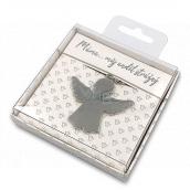 Nekupto Dárková klíčenka pro štěstí Máma..můj anděl strážný 4 cm