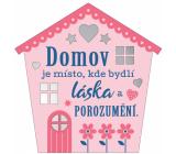 Albi Závěsná plaketka domeček Domov 9 x 10 cm
