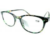 Berkeley Čtecí dioptrické brýle +1,0 plast mourovaté černo-zeleno-hnědé 1 kus MC2198