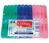 Clanax Kolíčky na prádlo plastové 24 kusů / 56 mm