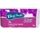 Big Soft Plus toaletní papír bílý 2 vrstvý 160 útržků 8 kusů