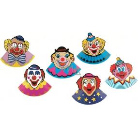 Klobouček karnevalový s klaunem 6 kusů v balení