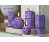 Lima Mramor Levandule vonná svíčka fialová koule průměr 60 mm 1 kus