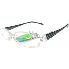 Berkeley Čtecí dioptrické brýle +3,50 bílé puntíky CB02 1 kus MC2089