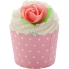 Bomb Cosmetics Růžová slečna - Pink Polka Košíček do koupele 110 g