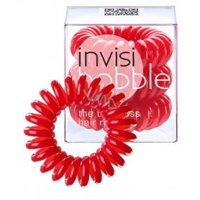 Invisibobble Raspberry Red Sada Gumička do vlasů červená spirálová 3 kusy