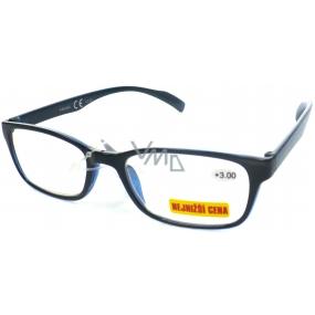 Berkeley Čtecí dioptrické brýle +3,0 černo tmavě modré 1 kus ER4050