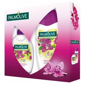 Palmolive Purpurová energie Naturals Irresistible Softness Natural Orchid sprchový gel 250 ml + tekuté mýdlo dávkovač 300 ml, kosmetická sada