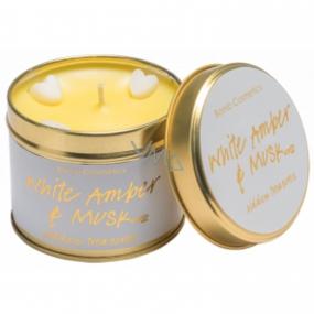 Bomb Cosmetics Bílý jantar a pižmo Vonná přírodní, ručně vyrobena svíčka v plechové dóze hoří až 35 hodin