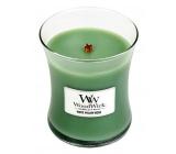 WoodWick White Willow Moss - Vrba a Mech vonná svíčka s dřevěným knotem a víčkem sklo střední 275 g
