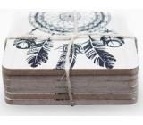 Nekupto Home Decor Podtácky dřevěné set 10 x 10 cm 6 kusů