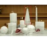 Lima Artic svíčka bílá jehlan 75 x 250 mm 1 kus