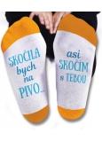 Nekupto Rodinné dárky s humorem Ponožky Skočila bych na pivo, velikost 39-42