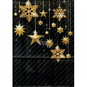 Ditipo Geschenk Papiertüte EKO 22 x 10 x 29 cm Schwarzgold Ornamente