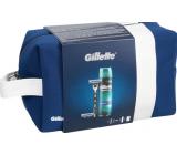 Gillette Mach3 holící strojek + náhradní hlavice 2 kusy + Comfort gel na holení 200 ml + etue, kosmetická sada