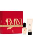 Giorgio Armani Sí parfémovaná voda pro ženy 30 ml + tělové mléko 75 ml, dárková sada