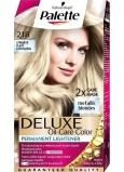 Schwarzkopf Palette Deluxe barva na vlasy 218 Stříbřitě plavá 115 ml