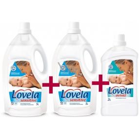 Lovela Sensitive tekutý prací prostředek 2 x 5 l + Lovela Sensitive aviváž 2 l
