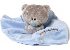 Me To You Tiny Tatty Teddy modrá dečka s medvídkem 22 x 18 cm